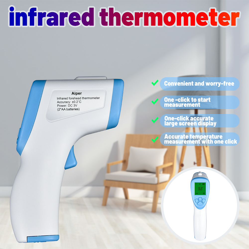 Forehead Non Contact Infrared  Thermometer LCD Body Temperature Fever Digital IR Measurement Tool Gun Thermometer
