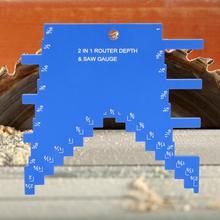 Алюминиевый сплав Деревообработка 2 в 1 измерительная линейка гравировальный станок круговой пилы угол линейки