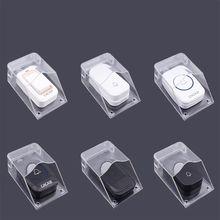 OOTDTY Waterproof Cover for Wireless Doorbell Door Bell Ring Chime Button Transp