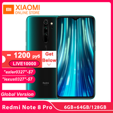 Global Version Xiaomi Redmi Note 8 Pro 6GB 64GB 128GB NFC Smartphone Helio G90T Game Core 64MP Quad Cameras 4500mAh 18W Charge cheap Not Detachable Android Fingerprint Recognition Face Recognition other ≈64MP Quick Charge 3 0 USB-PD Smart Phones Game Turbo/GPU Turbo