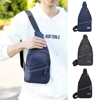 Men Waterproof Bags Fashion Outdoor Male Crossbody Bag with Interface Fashion Sports Packs Anti-thef