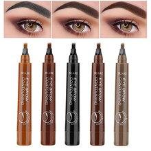 4 Fork Eyebrow Pencil Eyebrow Tattoo Pen Waterproof Eyebrow Enhancers Long-lasting Natural Sketch Brow Beauty Cosmetic Makeup