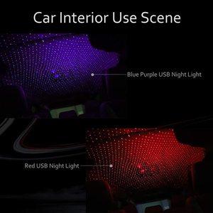 Романтический светодиодные лампы со звездным небом ночным пейзажем света с источником питания от USB 5 В, Galaxy Звездный проэктор лампа, лампа для крыши автомобиля дома номер Потолочный декор Plug and Play|Ночники|   | АлиЭкспресс