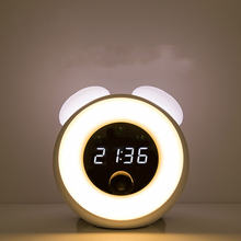 Светодиодная зеркальная лампа с будильником многофункциональный