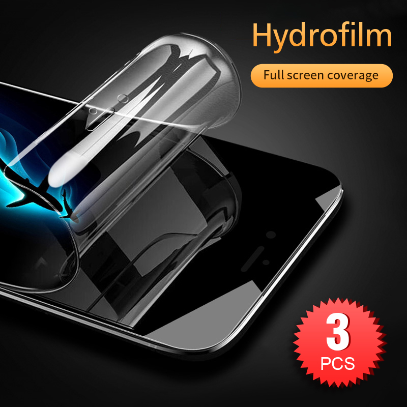 3PCS 20D Full Hydrogel Film For IPhone 11 Pro Xs Max Xr X Screen Protector IPhone 6 6s 7 8 Plus Soft Protective Film Not Glass