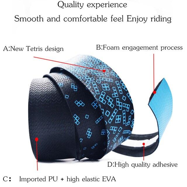 MOTSUV Road Bicycle Handlebar Tape Belt New Tetris design Cycling Handle Bar Tape Wrap Anti-slip Anti-sweat Strap +2 Bar Plugs 2