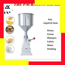 A03 manuelle befüllung maschine Manuelle Nagellack Shampoo Füllung Maschine 5 ~ 50ml für Cream Shampoo Kosmetik Flüssige Paste öl Füllstoff