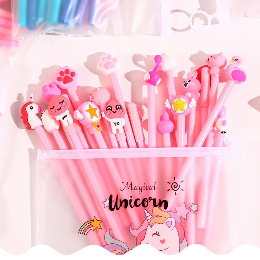 10Pcs/Set Gel Pen Unicorn Pen Stationery Kawaii School Supplies Gel Ink Pen School Stationery Office Suppliers Pen Kids Gifts