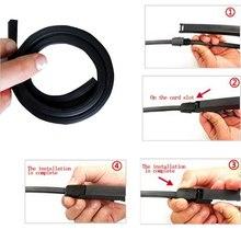 Uniwersalna bezramowa bezramowa szczotka do przedniej szyby wymiana 2 szt Wkładka samochodowa pasek gumowy akcesoria do wycieraczek tanie tanio CN (pochodzenie) FRONT Rubber 2020 wiper blade parts Black 90 wiper 10mm