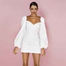 платье рукава мини-Спонжик HI1065-White
