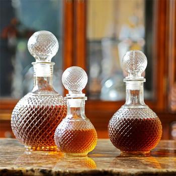 Strona główna Bar okrągła kula kształt kryształ Whiskey wino piwo szklana butelka karafka Whiskey karafka dzbanek na wodę Barware Tools tanie i dobre opinie CN (pochodzenie) Szkło Ekologiczne Eco-Friendly Karafki CE UE 5 cm Bar Tools