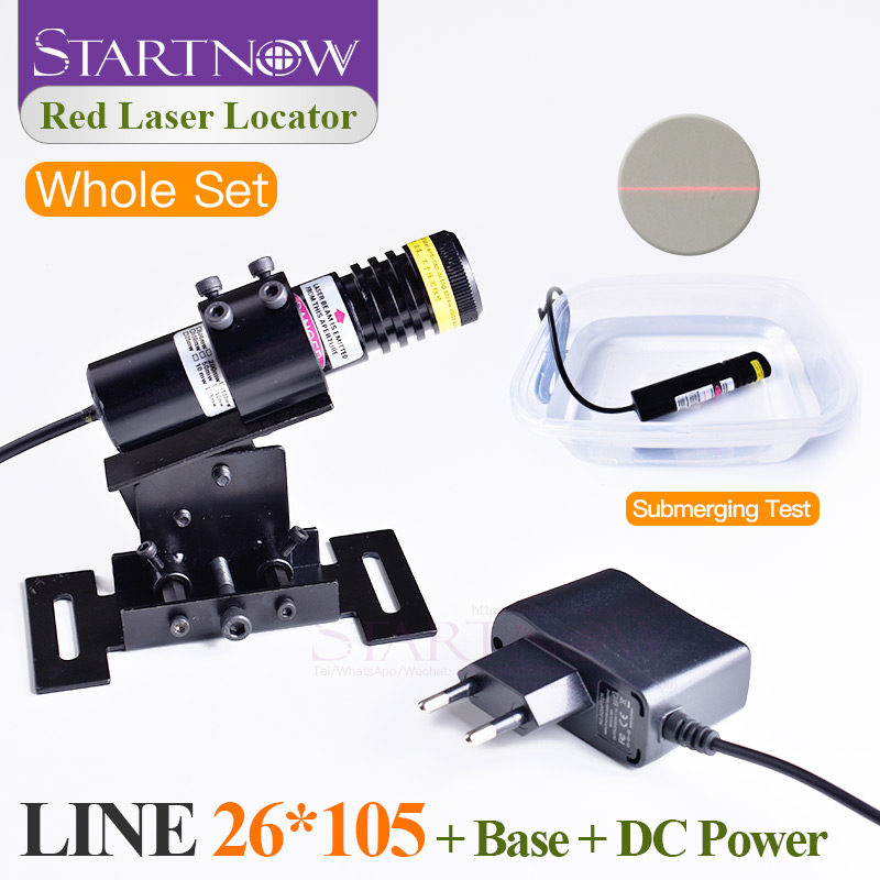 Waterproof Set 26*105 660nm 200mw 5V For Stone Cutting Machine Focusable Laser Beam Module Locator Red Laser Line Positioning