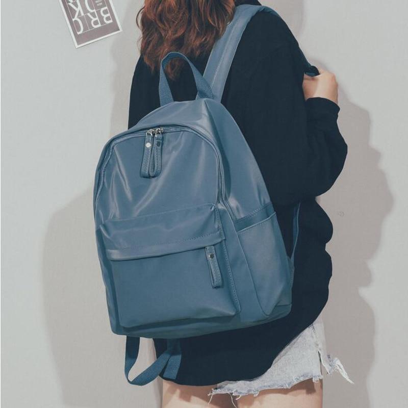 2020 Women Backpack Fashion Waterproof Nylon School Backpacks Female Travel Back Pack For Teenagers Girls Shoulder Bag Rucksack