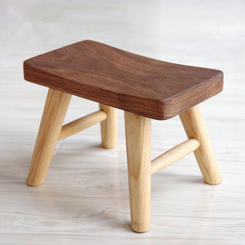 Tabouret en bois Rural tabouret carré repas américain tabouret surface tabouret enfants table en bois véritable banc chaises hautes