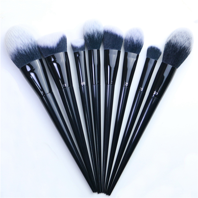 Makeup Brushes Big Powder Bronzer High gloss Foundation Blusher Concealer Shadow Highlighter Sculpting Light Dark Smoky Liner