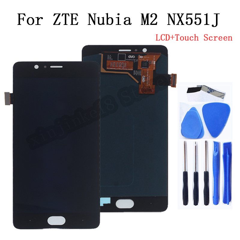 AMOLED Display For ZTE Nubia M2 NX551J LCD Display Touch screen digitizer Assembly For Nubia M 2 NX551J replacement Phone Parts(China)