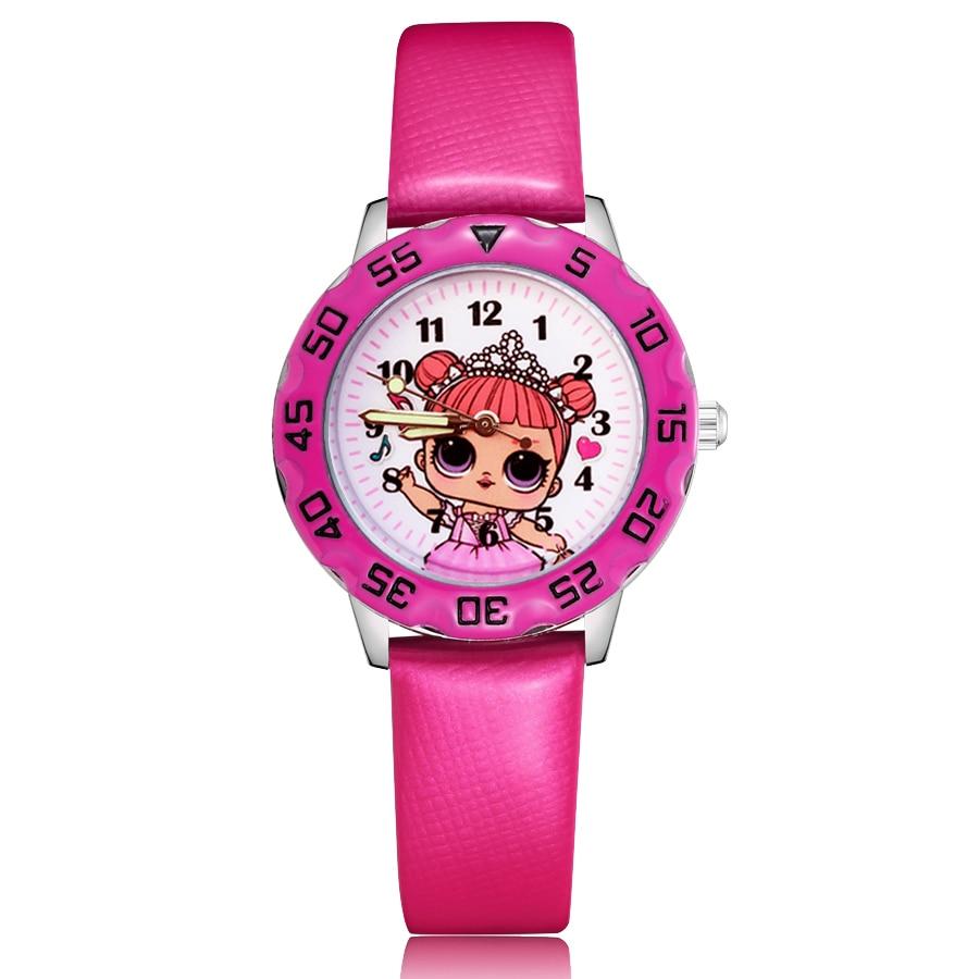 LOL Suprise Hot Sale Boys And Girls 3D Children Watches Cartoon Cute Little Girl Belt Watch Toy Girls Watches Girls Watch