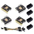TMC5160 V1.2 шаговый двигатель StepStick бесшумный драйвер поддержка SPI с радиатором для 3D-принтера плата управления (4 шт.)