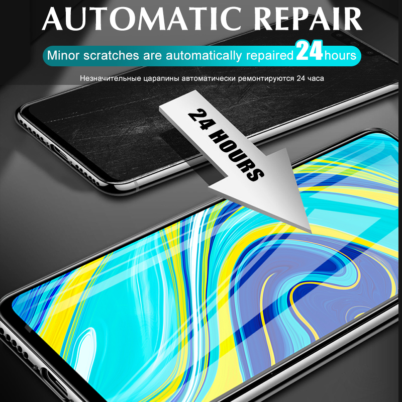 Front+Back Protector Hydrogel Film Full Cover For Xiaomi Redmi Note 9 8 7 Pro Max 8T 9S 7A 8A K30 Pro Screen Protector Not Glass 4