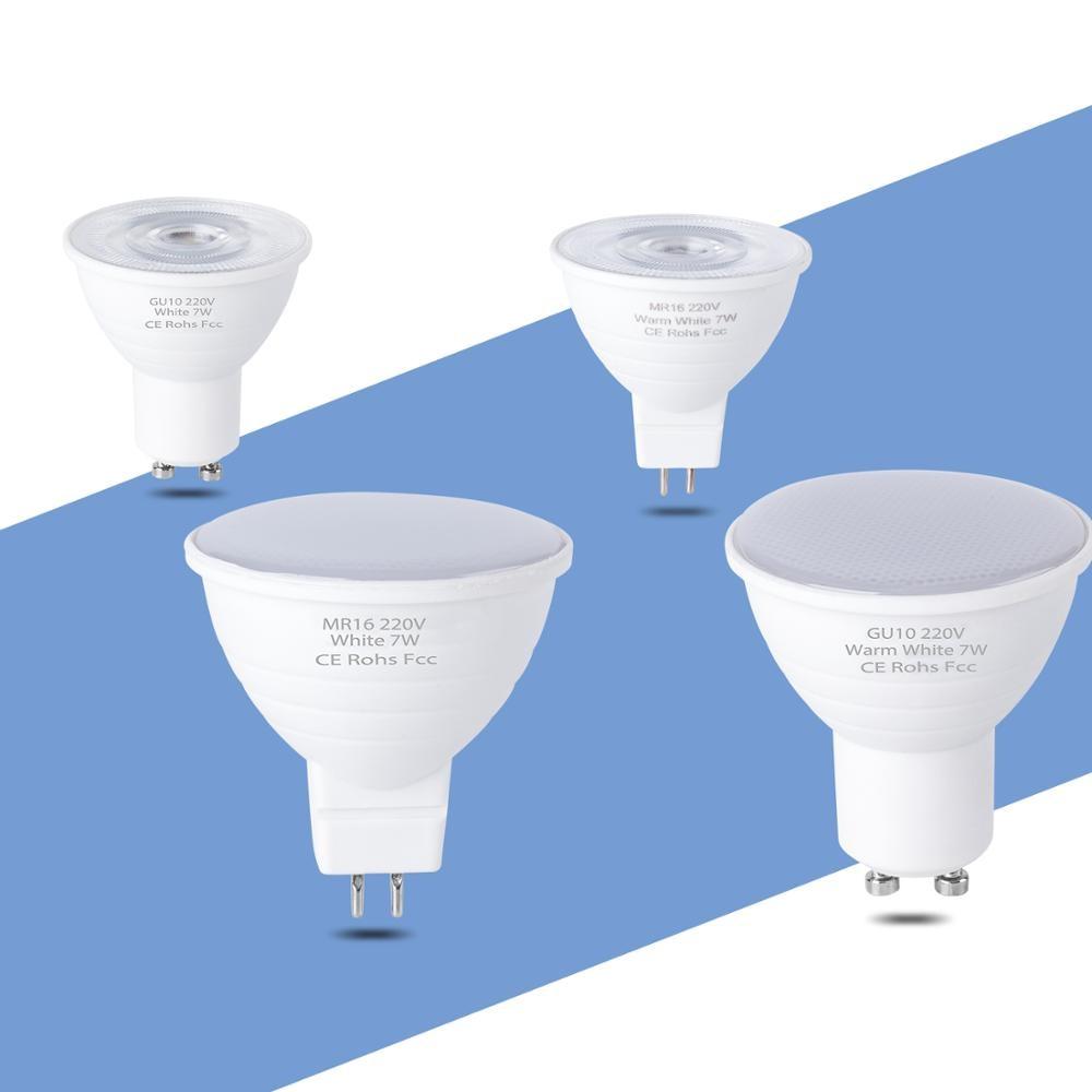 LED Spotlight Bulb 5W 7W  Gu10 LED 220V SMD2835 Warm White Cold White Lampada LED Lamp Bombillas MR16 Home Gu 5.3 Lighting Bulbs
