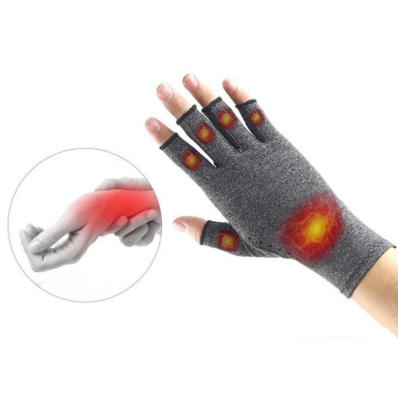 1 Pairs Arthritis Gloves Touch Screen Gloves Anti Arthritis Therapy Compression Gloves And Ache Pain Joint Relief Grey Winter Wa