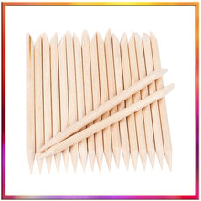 100pcs Houten Nail Sticks Cuticle Pushers Nail Double End Repousse Cuticule Verwijderen Retractor Duwt Cuticle Oranje Stokken(China)
