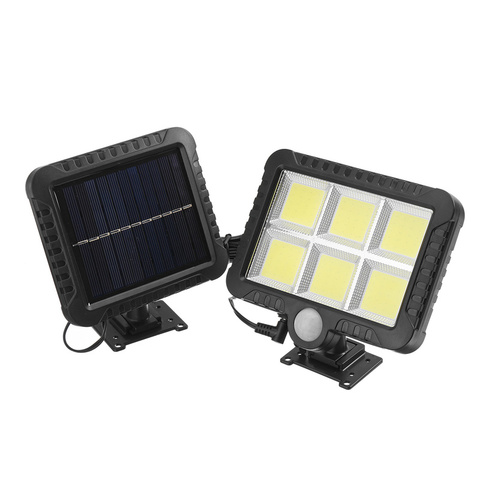 conjunto 1 50w ip65 pir sensor de movimento movido a energia solar luz solar ao