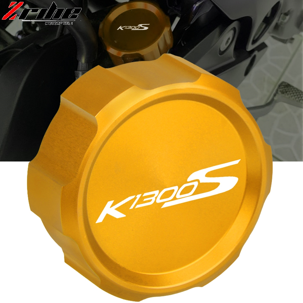 For BMW K1300S K 1300 S 2008-2016 2015 2014 2013 2012 Motorcycle Accessories CNC Rear Brake Master Cylinder Reservoir Cover Cap image