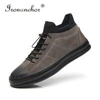 2019 winter Men ankle boots Luxury rubber warm High Quality men winter shoes #PZ579 A