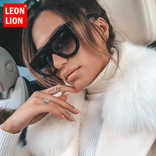 LeonLion Retro Sunglasses Women 2019 Vintage Glasses For Big Luxury Brand Mirror Oculos De Sol Feminino