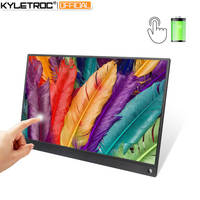KYLETROC 15.6inch Battery Touch Portable Screen USB C HDMI touch gaming monitor for Samsung DEX,Huawei EMUI, Laptop,Switch,PS4