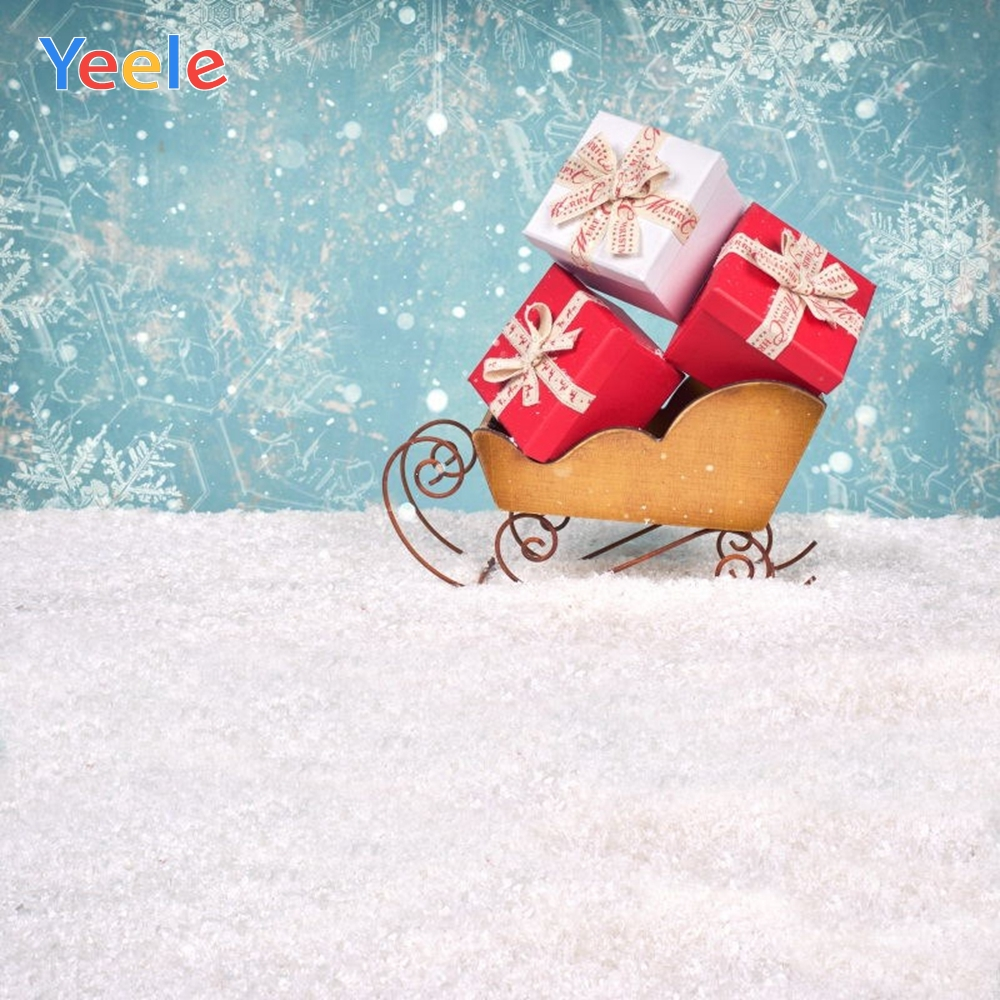 Yeele Christmas Backdrop Winter Snow Forest Tree Light Bokeh Newborn Baby Photography Background For Photo Studio Photophone in Background from Consumer Electronics