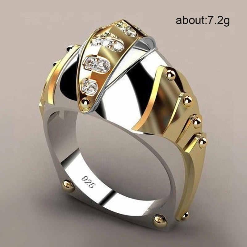 Creative אופנה מכירה לוהטת זהב דגי פה צורת טבעת גברים פופולרי סגנון אביזרי טבעות