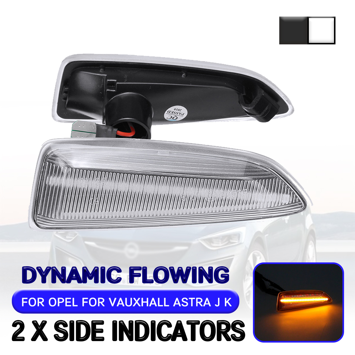 Car <font><b>LED</b></font> Dynamic Side Marker Light For Opel <font><b>Astra</b></font> <font><b>J</b></font> K For Zafira C For Insignia B For Grandland X Flowing Turn Signal Light Lamp image