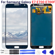 купить Adjustable Brightness For Samsung Galaxy E7 E700 E700H E700M LCD Display Panel Touch Screen Digitizer Glass Sensor Assembly по цене 1146.31 рублей