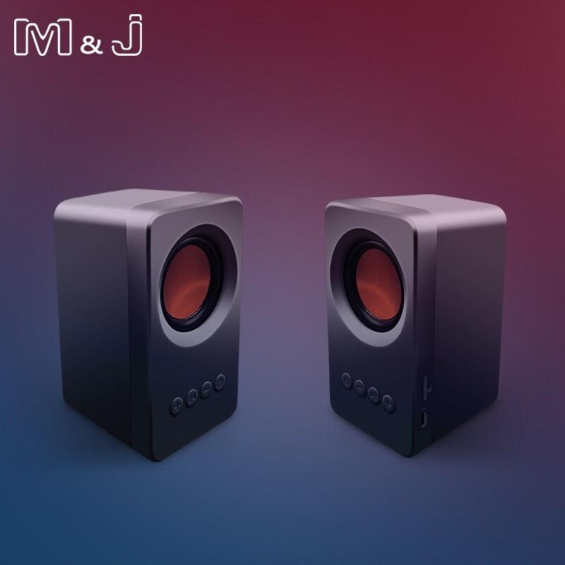 Портативная колонка M & J, TWS, Bluetooth 5,0, True Stereo Sound, колонки сабвуфера, USB, mp3, TF, FM-радио, встроенный микрофон