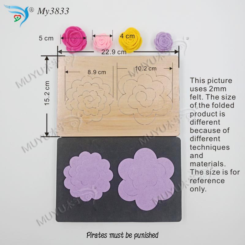Image 3 - Stereo flower muyu cutting die   new wooden mould cutting dies for scrapbooking MY3833-in Cutting Dies from Home & Garden