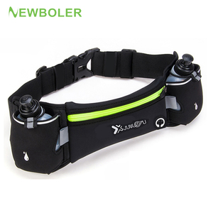 Marathon Dual Pocket Running Bag Trail Running Waist Belt For Phone Unisex Sports Fanny Pack Fitness Waist Pack Water Bottle
