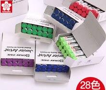 12 шт./кор. Sakura Cray-Пас-младший картина маслом художника палка жирной безопасные нетоксичные Водонепроницаемый набор кистей 24 Цвета для детей