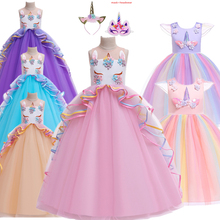 New Children Girls Princess Unicorn Party Cosplay Costume Moana  dress Costume for Halloween Costumes for Kids Girls Dress halloween costumes for girls princess dress kids vampire clothes cosplay bat set for party outfit boys costume children clothing