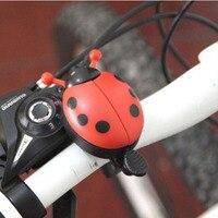 De aleación de aluminio de la bicicleta Bell anillo chico encantador escarabajo Mini mariquita de dibujos animados anillo de Bell para ciclismo campana para bicicleta en cuerno de alarma