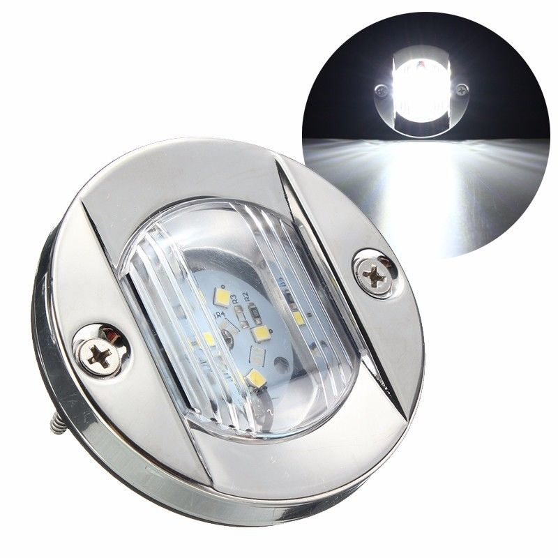 12V IP66 LED Stainless Stern Cockpit Transom Boat Navigation Light Bulb For Yacht Marine White