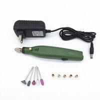 1 conjunto de mini velocidade variável moedor elétrico sem fio ferramentas rotativas elétrica broca do prego manicure filer kit unha polonês máquina