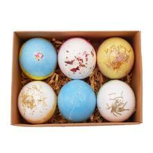 6PCS Bath Bombs Spa Bomb Fizzy Natural Handmade Sea Salt Lavender Bath Bomb Gift for Mother Girlfriend