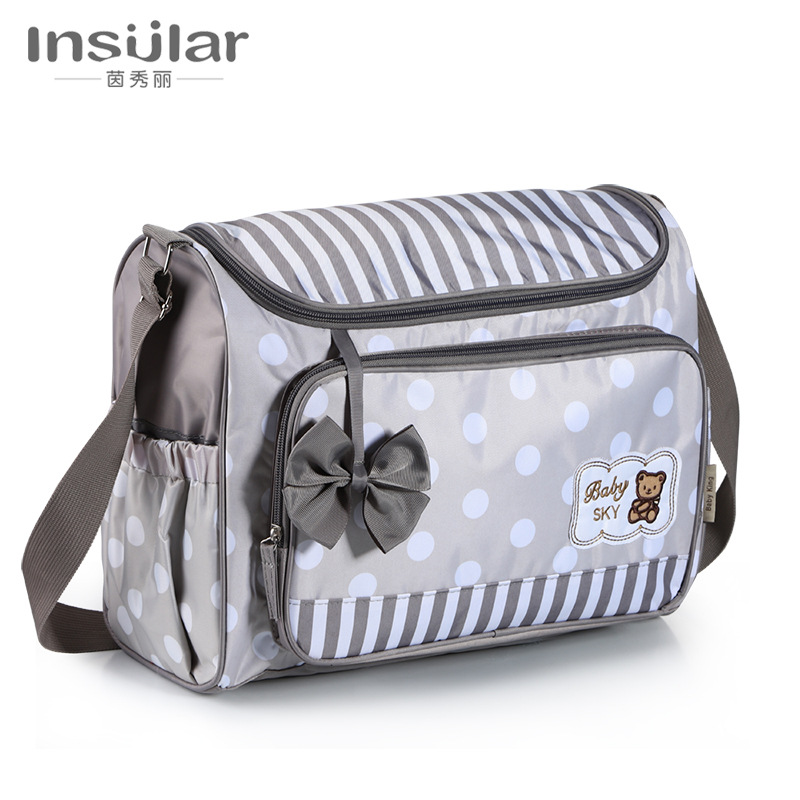 Insular Cartoon-Style Shoulder Diaper Bag Multi-functional Large-Volume Maternity Package Mom And Baby Diaper Bag Cross Border