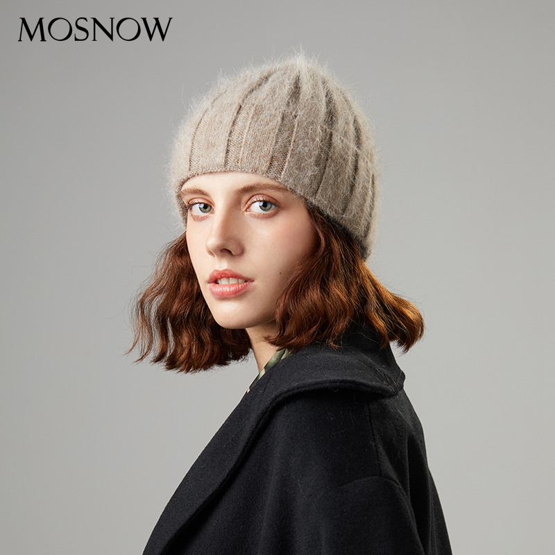 Winter Women's Hat  Beanies For Women High Quality Rabbit Fur Knitted Cap 2019 New Fashion Popular Hats New Thick Female Beanies