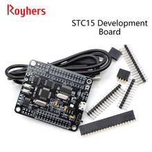 1 pçs stc8a8k64s4a12 placa de desenvolvimento 51 placa do sistema placa concorrência stc15 mcu placa de desenvolvimento atualizar placa de aprendizagem