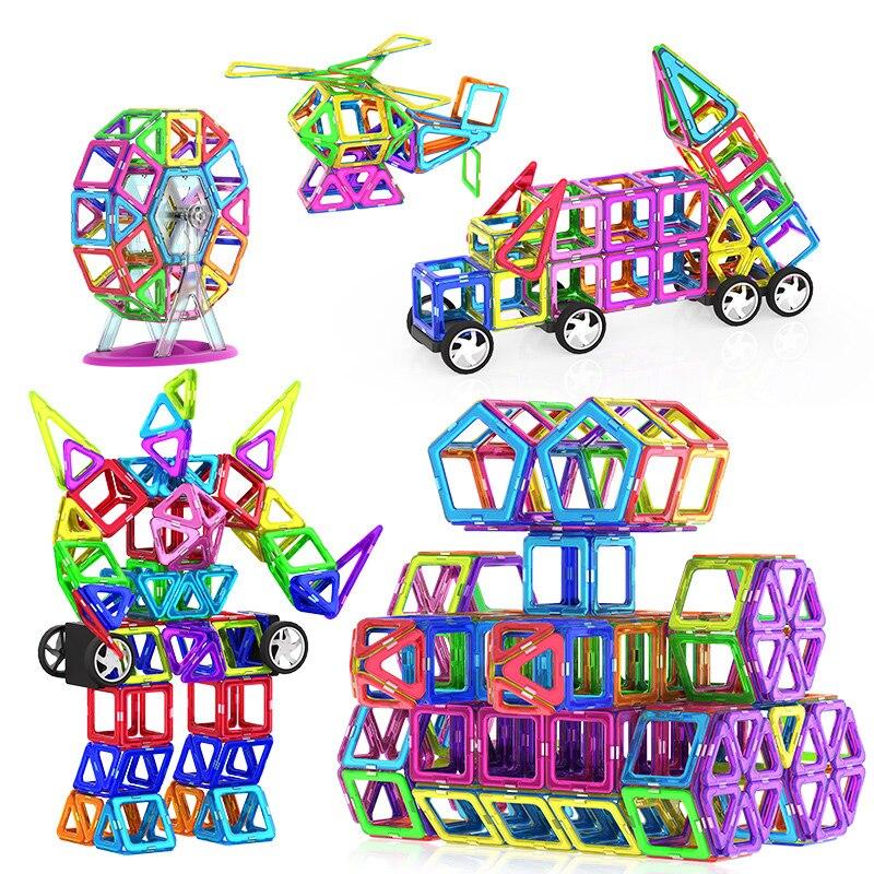 Magnetic Toys Magnets Kids Blocks Educational Girl Boy Construction Designer Set Castle Plane Car Creative Children Gift