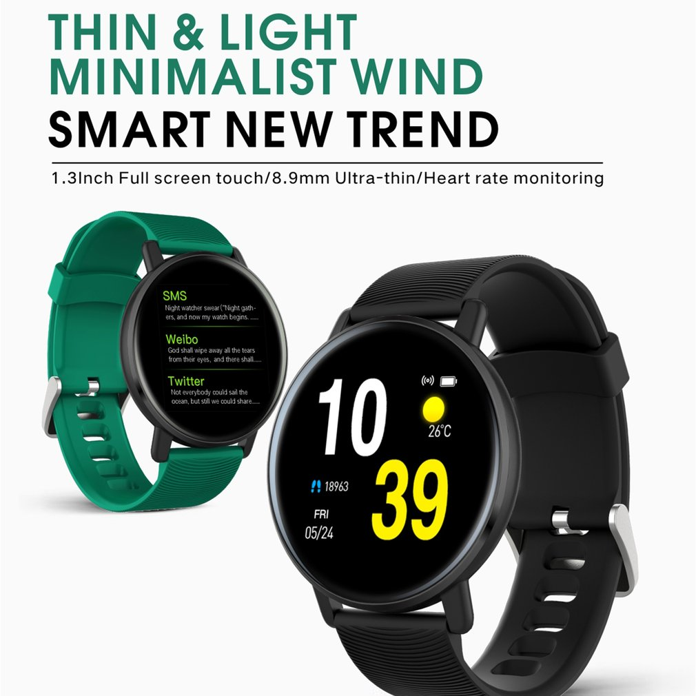 Men Women's H5 Bracelet Heart Rate Activity Fitness Tracker Color Touch Screen Waterproof Watch Tracking Smart Bracelet