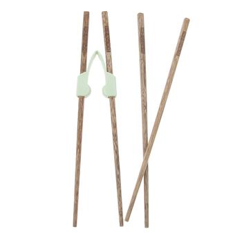 2 pary pałeczki treningowe pomocnik trenerzy narzędzie do nauki dzieci zestaw sztućców kuchennych przeznaczony dla dorosłych osób starszych lub niepełnosprawnych tanie i dobre opinie perfk Training Chopsticks